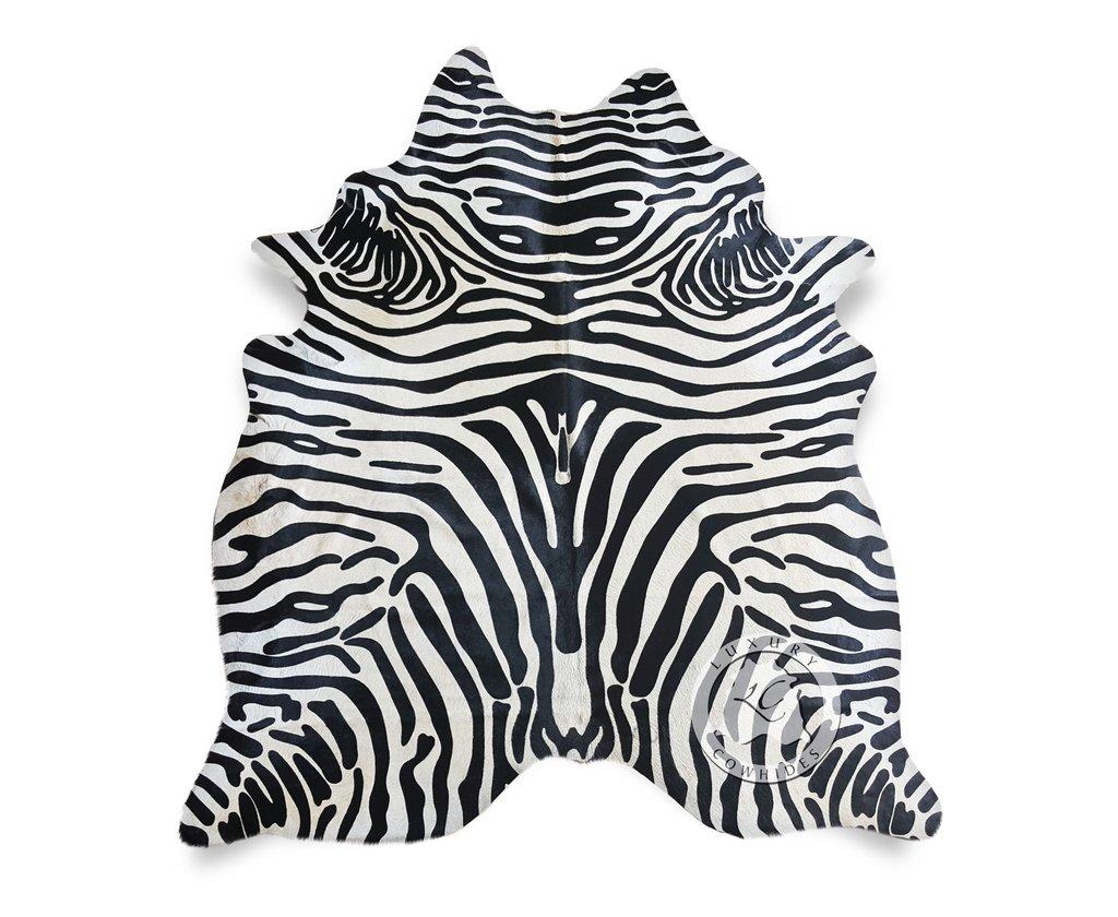 zebra rug zebra black stripes on off white cowhide rug - luxury cowhides NAIALYT