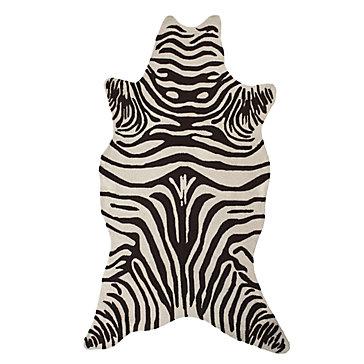 zebra rug zebra indoor/outdoor rug - chocolate ZYOKMUK