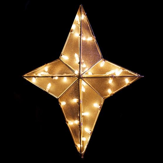 Christmas Decorations - 3' Dimensional Nativity Star Treetopper .