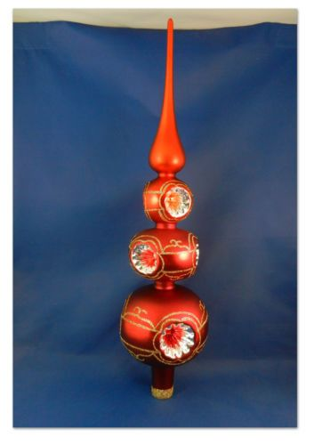 3 Tier Reflector Tree Topper German Glass Christmas Ornament .