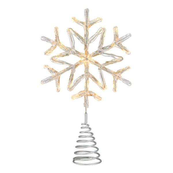 Phillips 14.5 in. 3 Function Bi-Color LED Acrylic Snowflake .