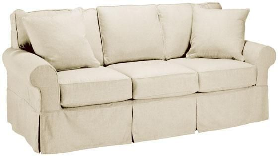 Custom Nantucket Slipcover 3-Cushion Sofa - Slipcovers - Custom .