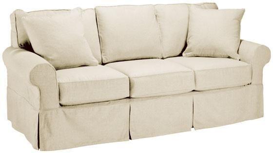 Custom Nantucket Slipcover 3-Cushion Sofa - Slipcovers - Custom .