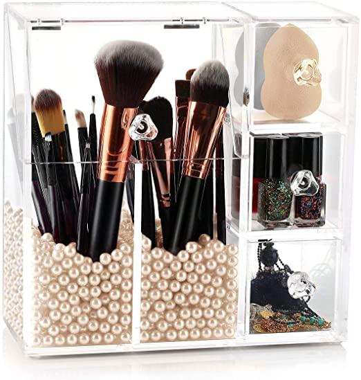 Amazon.com: HBlife Makeup Brush Holder, Acrylic Makeup Organizer .