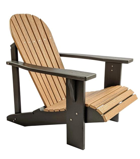 Two Tone Classic Poly Adirondack Chair   Evergreen Pat