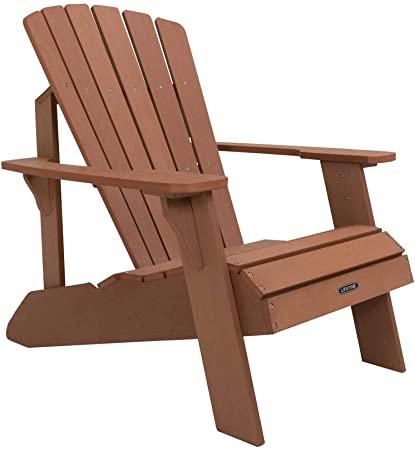 Amazon.com : Lifetime Faux Wood Adirondack Chair, Brown - 60064 .