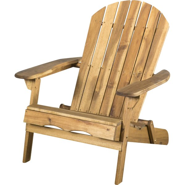 Boone Solid Wood Folding Adirondack Chair & Reviews | Joss & Ma