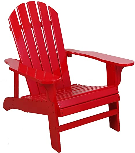 Amazon.com : Leigh Country Red Adirondack Chair for Patio, Deck or .