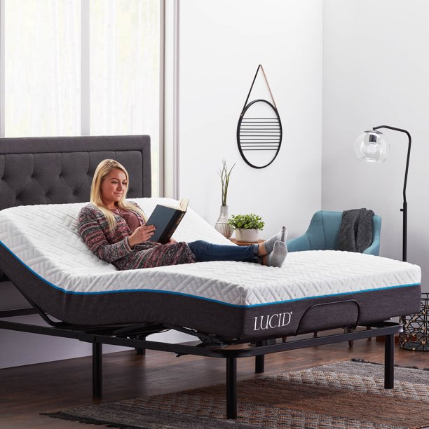 Lucid Basic Remote Controlled Adjustable Bed Base - Heavy Duty .