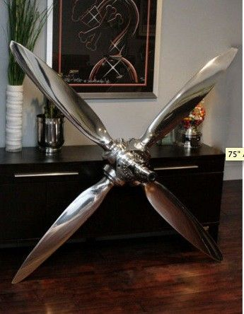 4-Bladed Airplane Propeller... home decor... Awesome! | Airplane .