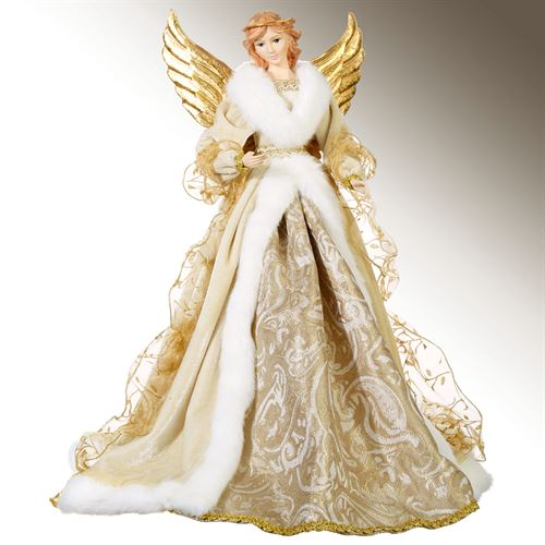 Golden Peace on Earth Angel Tree Topp