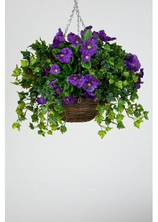 How to make an artificial hanging basket | Plants for hanging .