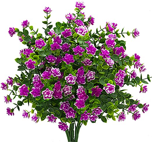 Amazon.com : Artificial Flowers, Fake Outdoor UV Resistant Plants .