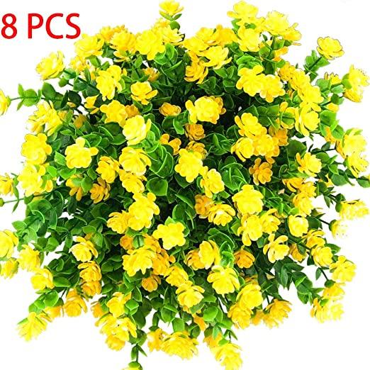 Amazon.com: E-HAND Artificial Flowers Outdoor Yellow Plants .