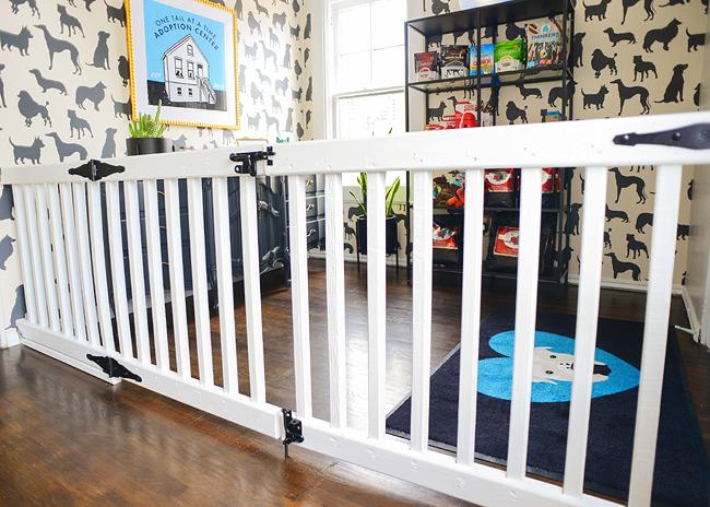 DIY An Extra Wide Gate | Baby room diy, Diy baby gate, Diy dog ga