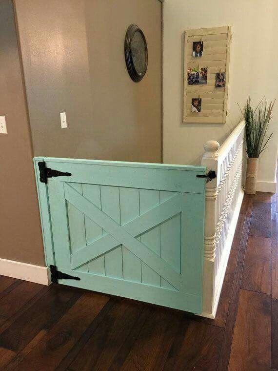 Baby/Toddler gate idea | Barn door projects, Barn door baby gate .