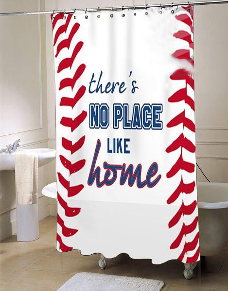 Baseball Shower Curtain Sports Bathroom Decor Fabric Shower .