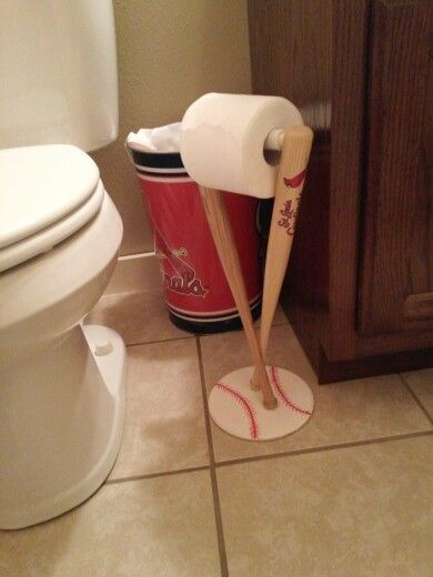 Cardinals. Baseball. Toilet roll holder. Bathroom accessory .