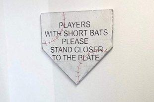 Amazon.com: 11 inch Funny Bathroom Baseball Sign Rustic Farmhouse .