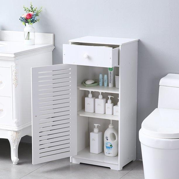 Bathroom Kitchen Storage Cabinet, Storage Cabinet w/ Doors, Drawer .