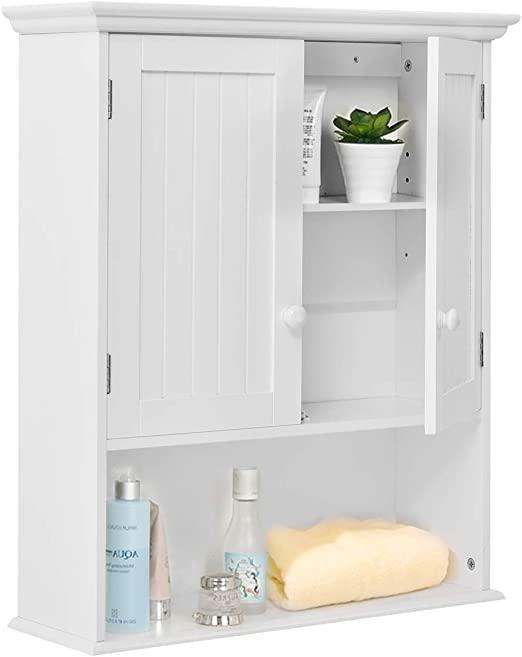 Amazon.com: TANGKULA Wall Mount Bathroom Cabinet Wooden Medicine .