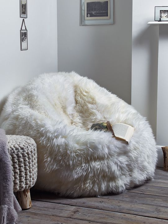 This big,grey,fluffy bean bag please … | Bean bag chair, Room .