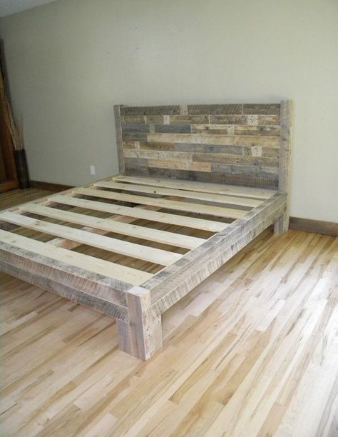 King Bed King Headboard Platform Bed Reclaimed by JNMRusticDesigns .