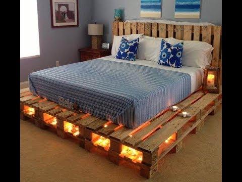 41 Amazing pallet bed frame ideas - DIY pallet ideas - YouTu