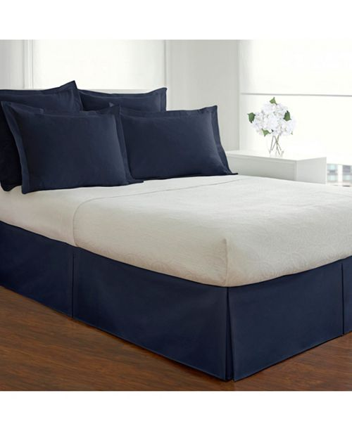 Fresh Ideas Poplin Tailored King Bed Skirt & Reviews - Sheets .