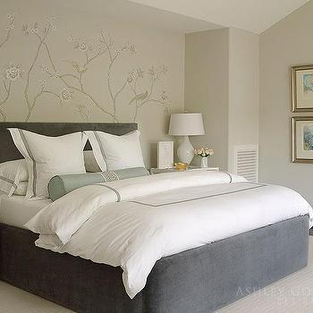 Dark Gray Velvet Bedskirt Design Ide
