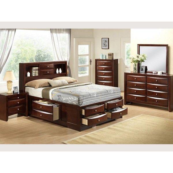 MB117 Contemporary Espresso Queen Master Bedroom S