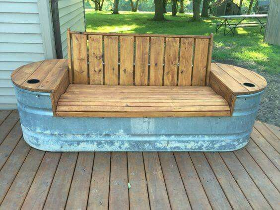 Garden Bench Ideas That Are Out Of the Ordinary | Rustic furniture .