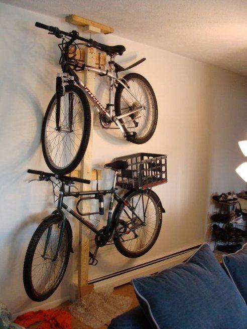 Hang Your Bike On The Wall With Mike Sapak's DIY Bike Rack | Diy .