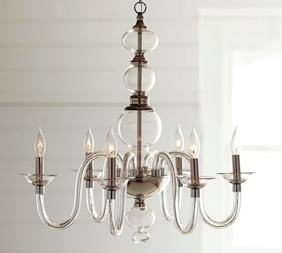 Blown Glass Chandelier | Pottery Ba