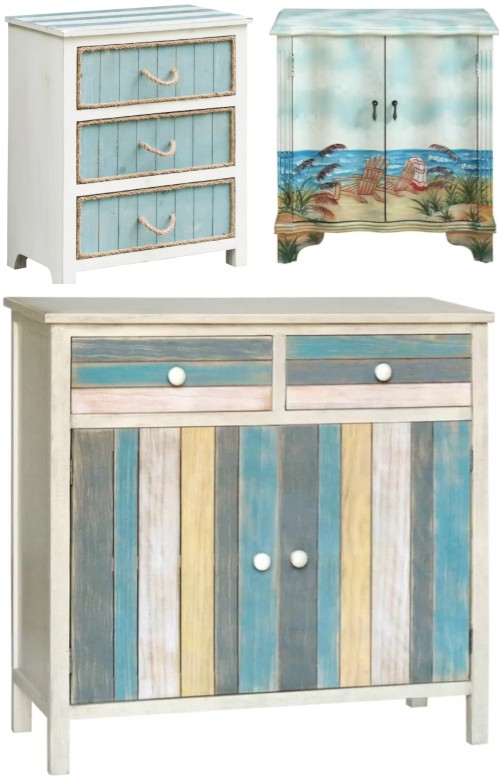 Coastal Accent Cabinets & Chests Inspired by the Sea - Coastal .