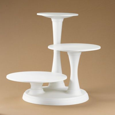 3-Tier Pillar Cake Stand distinctive cascading display for elegant .