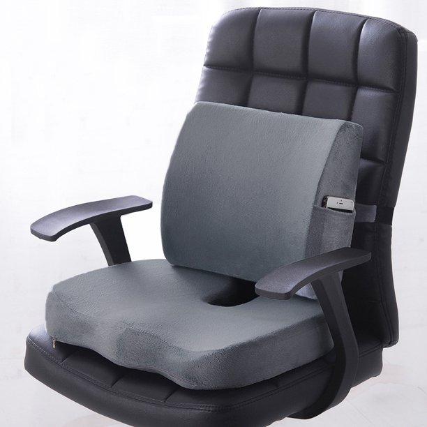 Premium Memory Foam Seat Cushion Lumbar Back Support Orthoped Home .