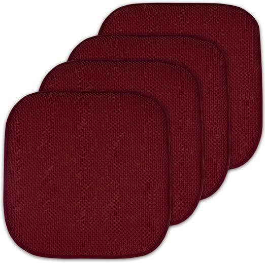 "Amazon.com: 4 Pack Memory Foam Honeycomb Nonslip Back 16"" x16 ."