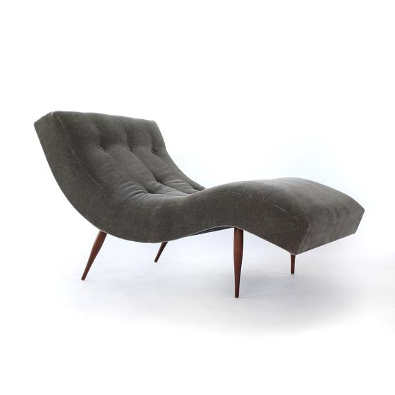 STUNNING Adrian Pearsall Wave Chaise Lounge Chair for Craft | Et