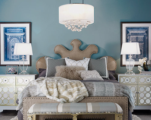 Ideas for Choosing, Placing and Hanging a Bedroom Chandelier .