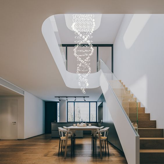 Staircase Chandelier Ideas to Upgrade Your Home – Modern Chandelie