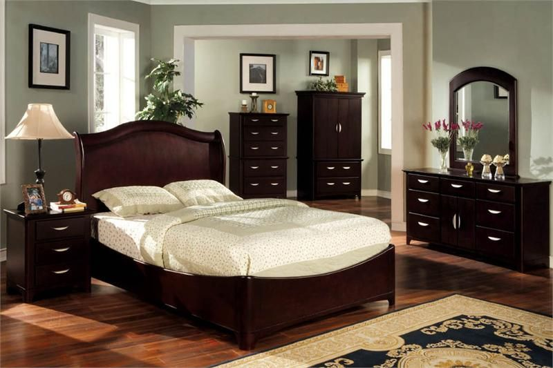 Adorable Paint Colors for Bedroom with Dark Furniture .