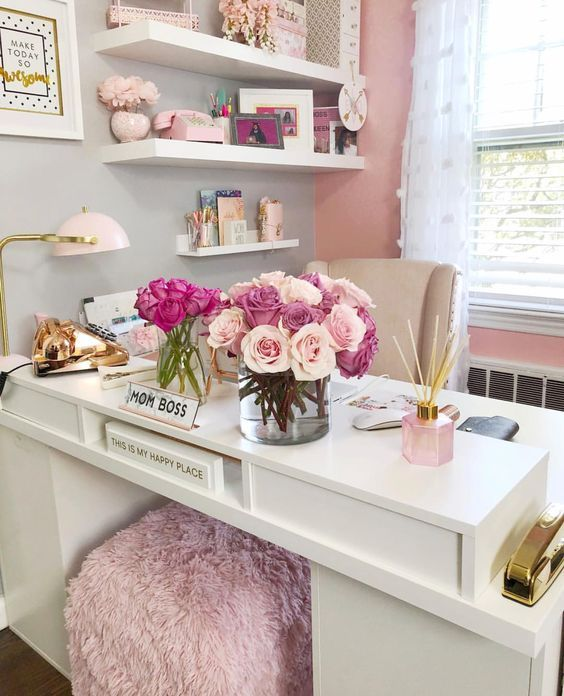 25 Chic Office Desk Arrangements You Need to Copy Now Vol 1 (With .