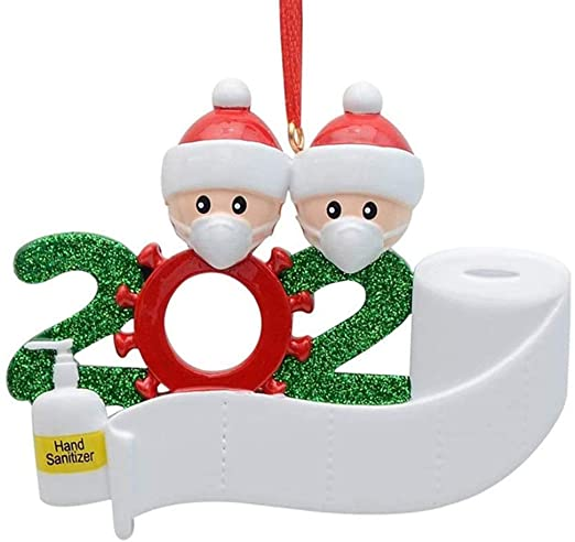 Amazon.com: Hotme 2020 Christmas Ornaments Quarantine Family with .