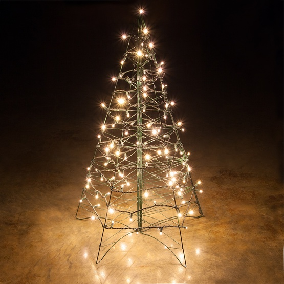 Lighted Warm White LED Outdoor Christmas Tr