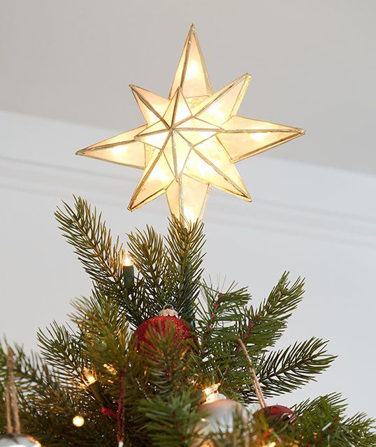 GE 10-in Star Off-White Christmas Tree Topper Lowes.com .