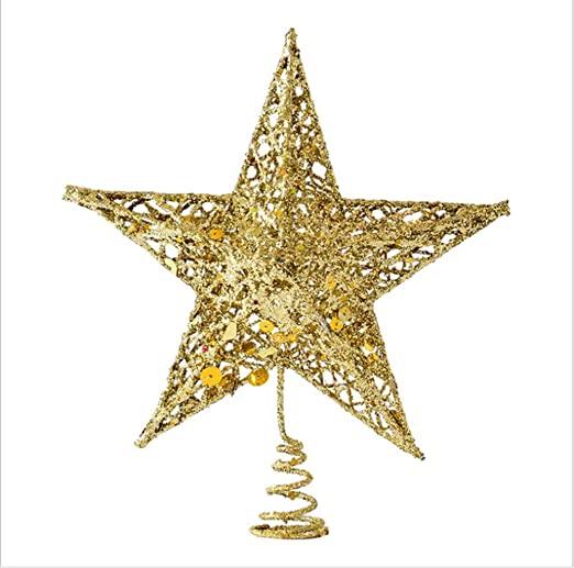 "Amazon.com: Sricam Christmas Tree Topper, 7.8"", Wire Gold Tree ."