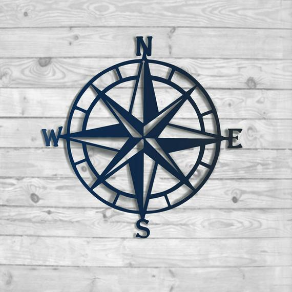Compass Rose Metal Wall Art Nautical Compass Nautical Wall | Et