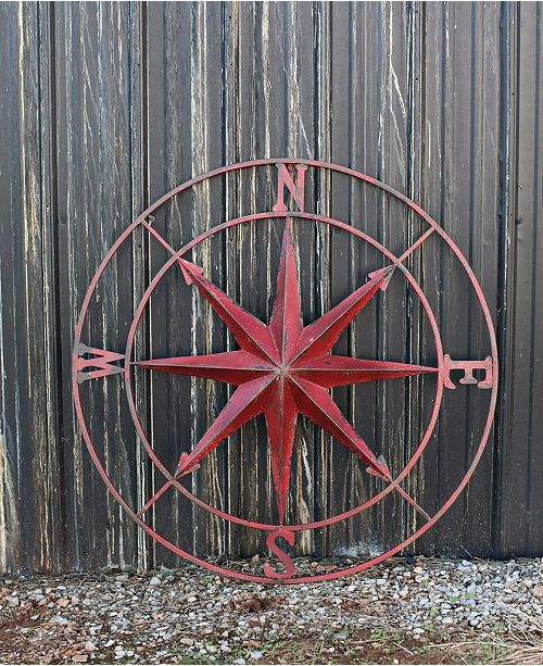 3R Studio Round Metal Compass Wall Decor & Reviews - Wall Art - Macy