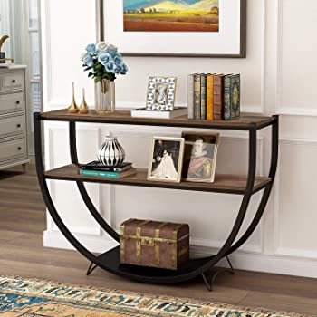 Amazon.com: P PURLOVE Retro Style Console Table 2 Tier Sofa Table .